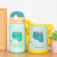 400ml Kids Thermos Mug With Straw Stainless Steel Dinosaur Vacuum Flasks Children Cute Thermal Water Bottle Tumbler Thermocup cheap CN(Origin) HA039 Eco-Friendly Stocked Large capacity Vacuum Flasks Thermoses Belly Cup 6-12 hours thermos bottle keep cup