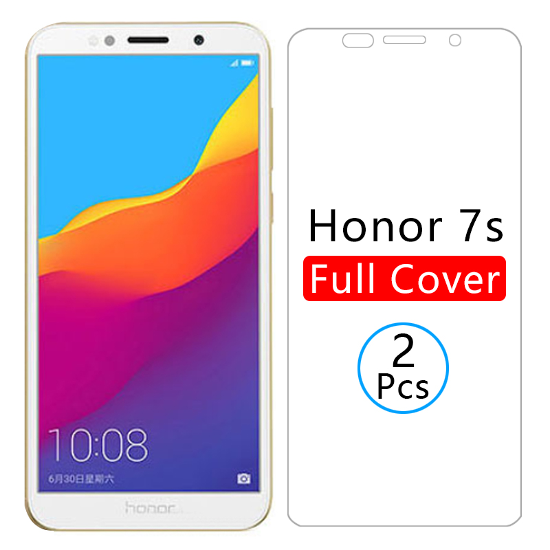 protective glass on honor 7s screen protector tempered glas for huawei honor7s honer 7 s s7 5.45 huawey huwei hawei huawi onor(China)