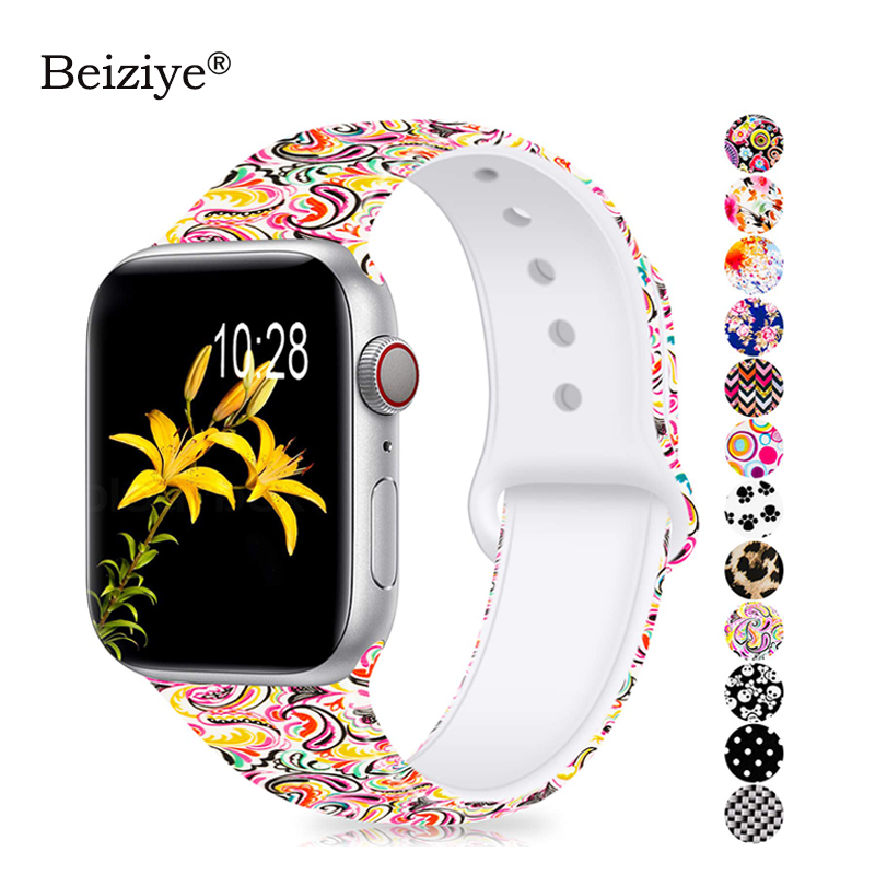 Sports Soft Silicone Strap For Apple Watch Band 44mm 40mm Series 5 4 Watch Bracelet for iWatch Band 38mm 42mm 3 2 1 Accessories
