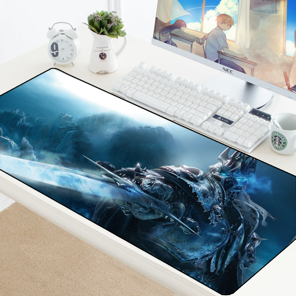 900x400mm Large Gaming Mouse Pad Mat Grande For WOW Lich King Gamer XL Computer Mousepad Game Desk Play Pad For Csgo PC Padmouse