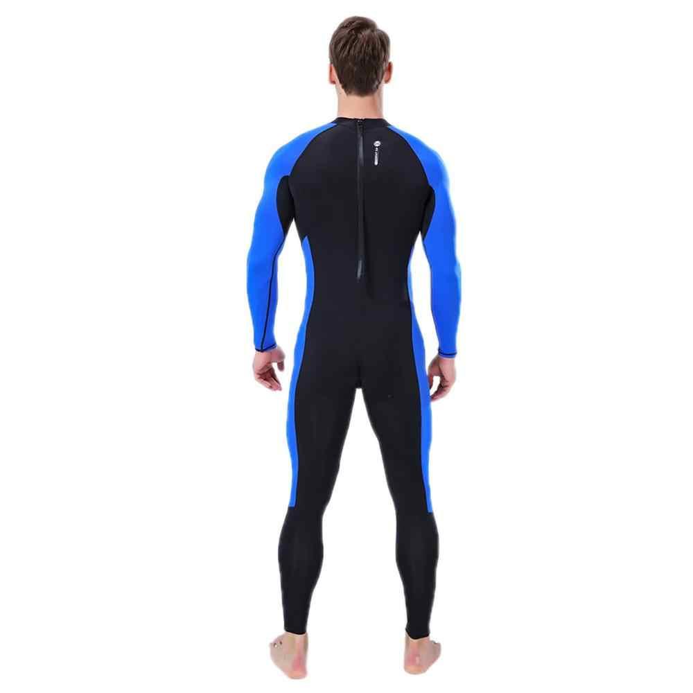 1 adet erkekler dalgıç kıyafeti tam vücut Scuba Wetsuit sörf yüzme uzun kollu Wetsuit erkek kadın sörf dalış elbisesi tam Bodysuit yumuşak & w