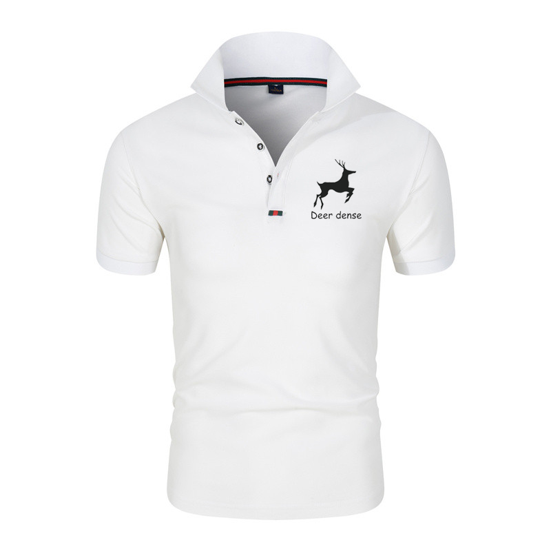 Fashion Polo Shirt Short Sleeve T-shirt Lapel Men's polo Summer Business Intelligence Leisure Sports Breathable Comfortabl