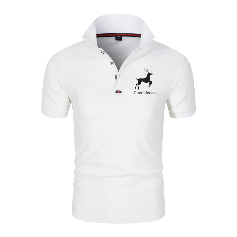 Fashion Polo Shirt Short Sleeve T-shirt Lapel Men's polo Summer Business Intelligence Leisure Sports Breathable Comfortabl