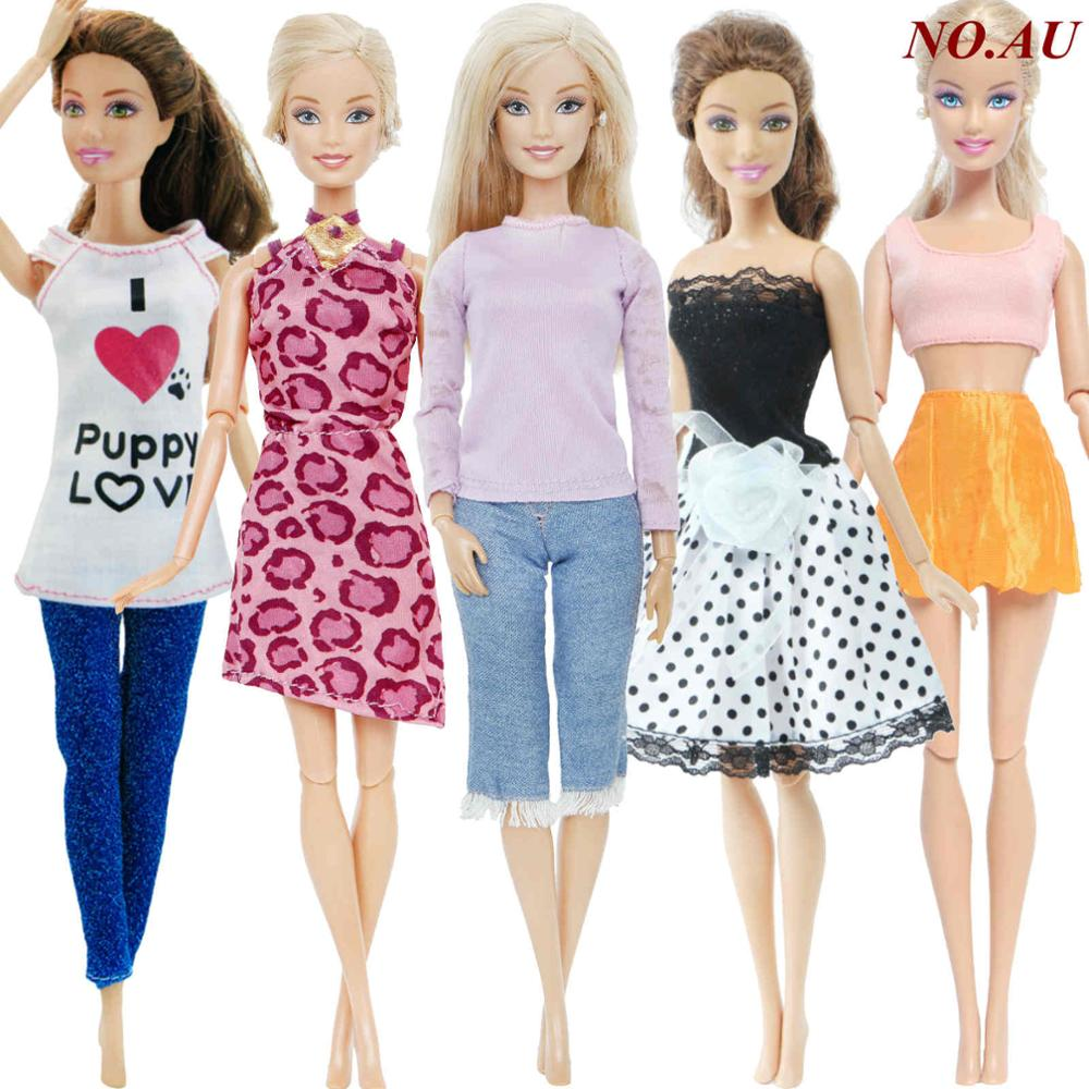 New fashion floral  top and denim skirt  For your Barbie doll outfit Au seller