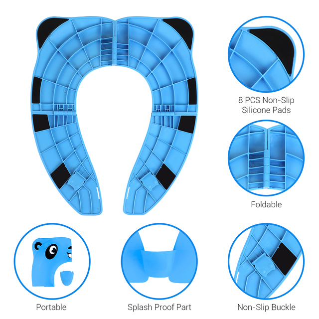 New Baby Potty Training Seat For Baby Travel Foldable Kids Toilet Seat Cover Kid Toilet Pad 4