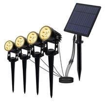 Водонепроницаемый светодиодный садовый светильник rgb на солнечной