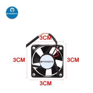 Image 2 - Mini Extractor de humo USB, 3CM, 7CM, 5V, soldadura de hierro, Extractor de humo, filtro de aire para teléfono, placa base, herramienta de reparación de soldadura