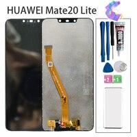Cep telefonları ve Telekomünikasyon Ürünleri'ten Cep Telefonu LCD'leri'de Orijinal ekran için Huawei Mate 20 Lite LCD ekran dokunmatik ekran digitizer için Huawei Mate 20 Lite LCD ekran SNE LX1 LX2 LX3