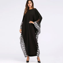Women Muslim long dress Abaya Turkish Kimono Dubai Oversize Fashion Robe Party Dresses Elegant Black Plus Size Islamic Clothing(China)