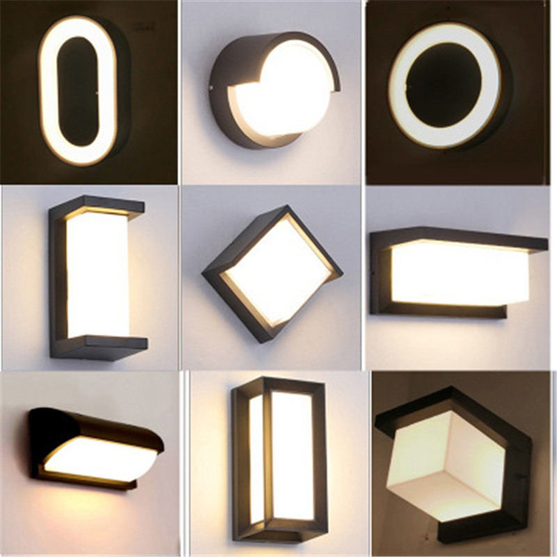 Outdoor Wall Light Led Ip66 Tahan Air Teras Eksterior Led Mewah Ide Tangga Perlengkapan Pencahayaan Lampu Dinding Luar Aliexpress