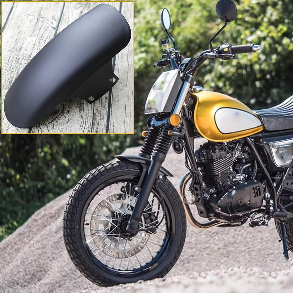 OLOEY Universal Motorcycle Retro Mudguard Ultra-short Front Fender Mudguard Racer Wheel Splash Shield Guard For GN125 MASH125