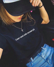 T-shirts à manches courtes col rond pour femmes, été t-shirts hauts, avis à la mode, Inscription lettre russe, collection décontracté
