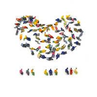 1/200 alle Sitzen Farbe Abbildung Mini Modell Für Landschaft Architektur Gebäude Zug Konstruktion Layout Diorama Kunststoff