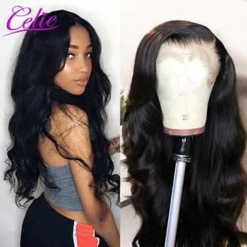 Celie Lace Front Human Hair Wigs Body Wave Pre Plucked 360 Lace Frontal Wig 150 180 250 Density Remy Brazilian Lace Front Wig - DISCOUNT ITEM  60% OFF All Category