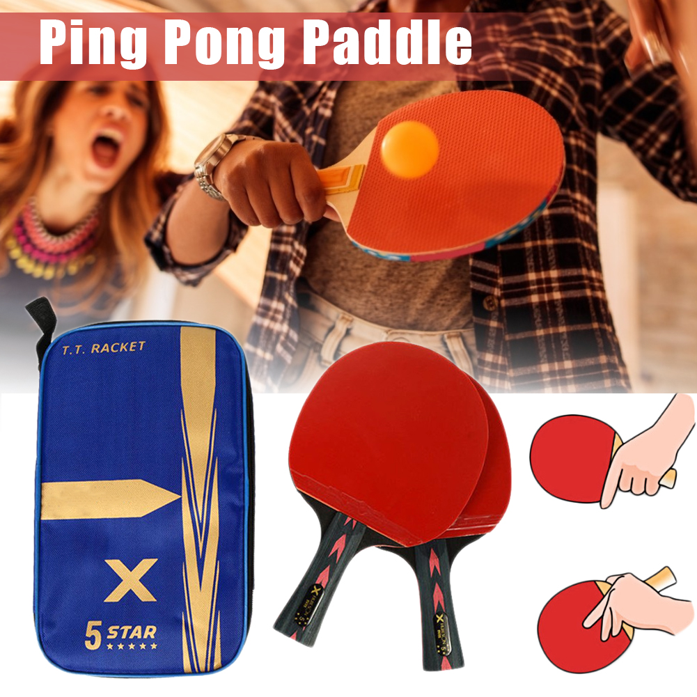 2Pcs Upgraded 5 Star Carbon Table Tennis Racket Set Lightweight Powerful Ping Pong Paddle Bat with Good Control Table Tennis Accessories & Equipment    - AliExpress