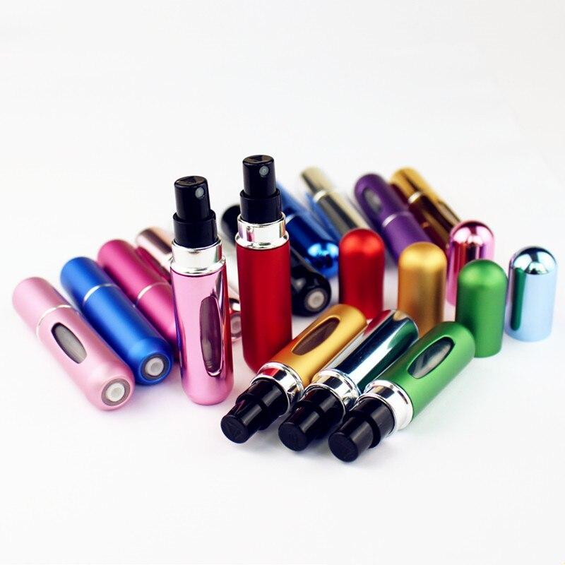 1PC Top Quality 5ml Perfume Bottle Mini Metal Sprayer Refillable Aluminum Perfume Atomizer Travel Size-4