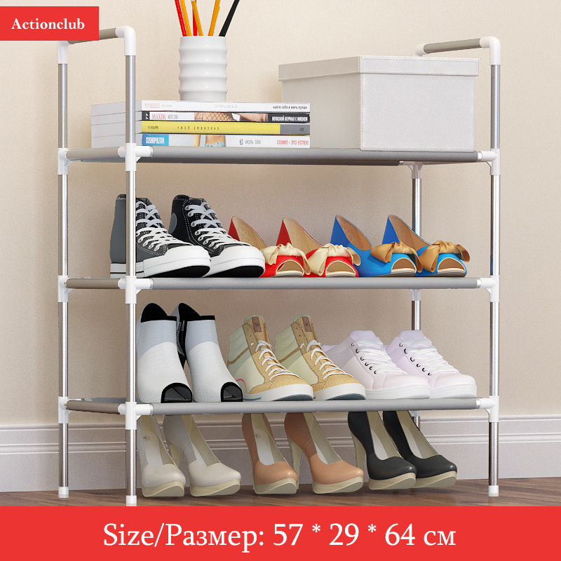 Bahmetev Simple Multi-layer DIY Assembly Metal Iron Shoe Shelf Student Dormitory Shoe Storage Rack Large Capacity Shoe Cabinet 2