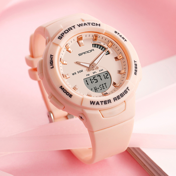 Sanda Female Sport Watch Women Famous Luxury Brands Electronic Watch Ladies Fashion Wrist Watches 2020 relogio digital feminino