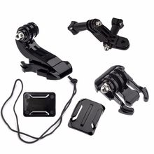 Actie Camera Accessoires Set Voor Gopro Hero 5 3 4 Xiaomi Yi 4K Sjcam SJ4000 Borstband Base Mount go Pro Helm Kits(China)