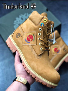 TIMBERLAND Shoelace-Buckle Premium-Boots Casual-Shoes Black Outdoor High-Seven Man 2O20