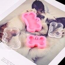 Moules en Silicone en forme d'os de chien, 1 pièce, pour étiquette de chien, pendentif, moule de moulage en résine époxy pour bricolage, fabrication de bijoux, outils de porte-clés