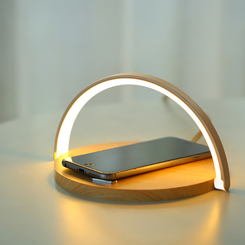 Table Lamp Night Light Phone Holder 10W High-Power Wireless Charging Charger Holder For iphone Huawei Xiaomi Redmi Samsung