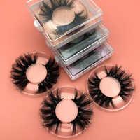Logotipo personalizado libre Mikiwi 25mm pestañas 30/50/100/200 venta al por mayor funda cuadrada de papel brillante embalaje caja de maquillaje pestañas de visón