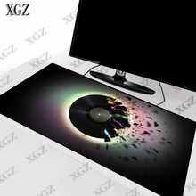 XGZ Round Vinyl Record Music Large Gaming Mouse Pad Rubber PC Computer Gamer Mousepad Desk Mat Locking Edge for CS GO LOL Dota(China)