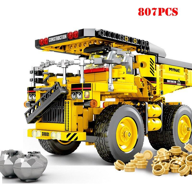 Technic-City-Mine-Truck-Engineering-Vehicle-Building-Blocks-City-Construction-Bricks-Educational-Toys-For-Children-Birthday