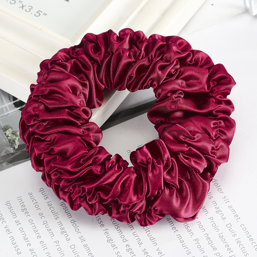 Haimeikang Fashion Scrunchies High-end Elastic Hair Bands Hair Rubber Wide Satin Fabric Head Flower Bowel Korean Hair Ropes