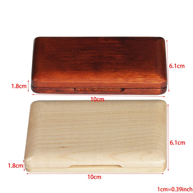 New Solid Wood Saxophone Reed Case Wooden Holder Box For Tenor/ Alto/ Soprano Saxophone Clarinet Reeds, 2pcs Capacity Qiang