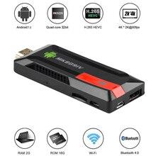 цена на MK809 IV Android 7.1 TV Dongle RK3229 Quad Core 2G/16G UHD 4K Smart TV Stick HD 3D Mini PC H.265 WiFi DLNA Smart MediaPlayer