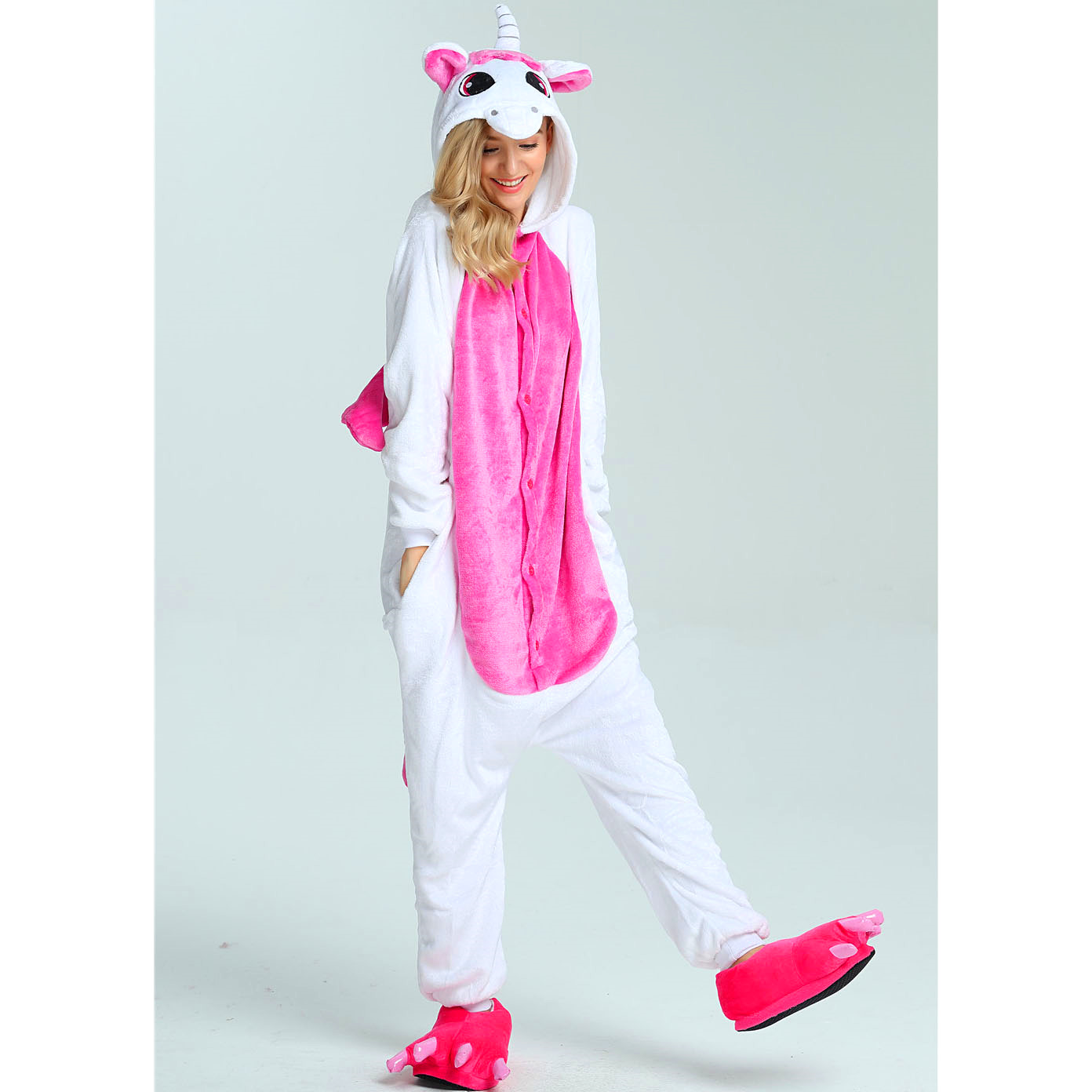 Image 5 - Women Kigurumi Unicorn Pajamas Sets Flannel Cute Animal Pajamas kids Women Winter unicornio Nightie Pyjamas Sleepwear Homewear-in Pajama Sets from Underwear & Sleepwears
