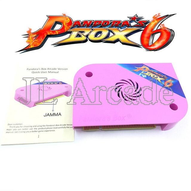 Pandora Box 6 1300 Jamma Board Pcb Voor Arcade Machine Ondersteuning Crt Cga Hdmi Kan Downloaden Fba Mame PS1 Game 3D Console