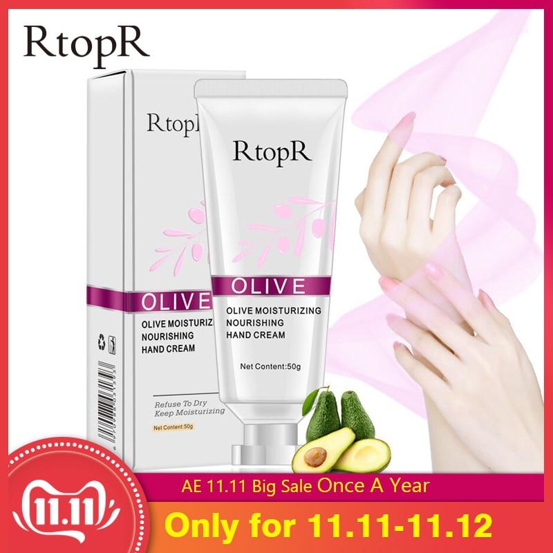 New RtopR Olive Oil Serum Repair Hand Cream Nourishing Hand Care Anti Chapping Anti Aging Moisturizing Whitening Hand Cream