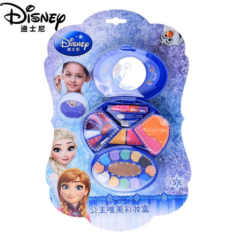 Frozen Disney Heart-shaped Makeup Toy Girls  Princess Elsa Anna Kids Makeup Children Make Up Set Girls Pretend Play Toy