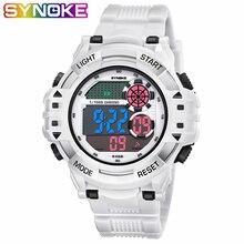 SYNOKE уличные спортивные часы мужские скалолазание цифровые наручные часы с большим циферблатом Военная сигнализация ударостойкие водонепроницаемые часы