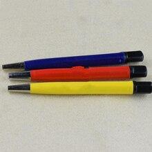 3 Pcs/Lot brosse stylos Fiber de verre/laiton/acier brosse autocollant stylo forme montre pièces polonais et rouille propre enlèvement outil KYY9001