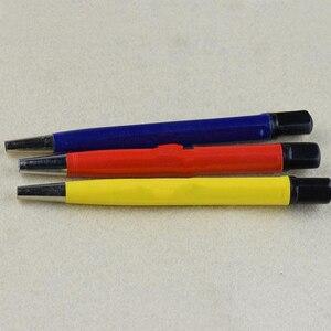 Image 1 - 3 יח\חבילה מברשת עטי זכוכית סיבים/פליז/פלדה מברשת מדבקת עט צורת שעון חלקי פולני וחלודה נקי הסרת כלי KYY9001