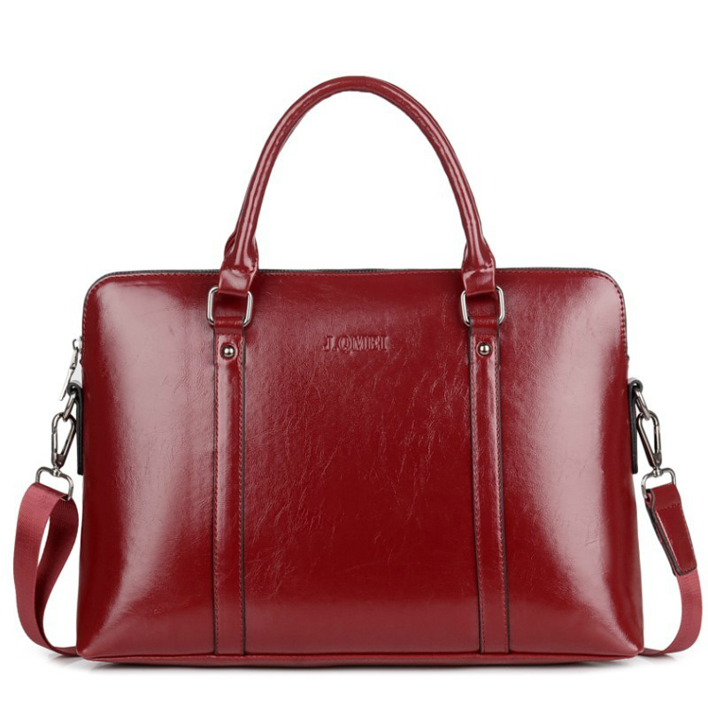 New Fashion Women Laptop Business Briefcase Ladies Leather Handbag 14 15.6 Inches Women's Notebook Computer Portable Office Bag