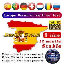 Europy najbardziej stabilny Cccam dla hiszpanii portugalia niemcy 3 5 8 linii wsparcie cccams satelitarny odbiornik tv zestaw top HD 48h darmowy test tanie tanio ZIICOYO ANALOG CHENCCCAM 1 Year CCCams Satellite tv Receiver CCcam Server 3 5 8 lines