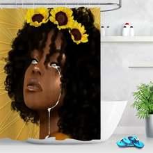 Занавеска для душа в Африканском и американском стиле девочек