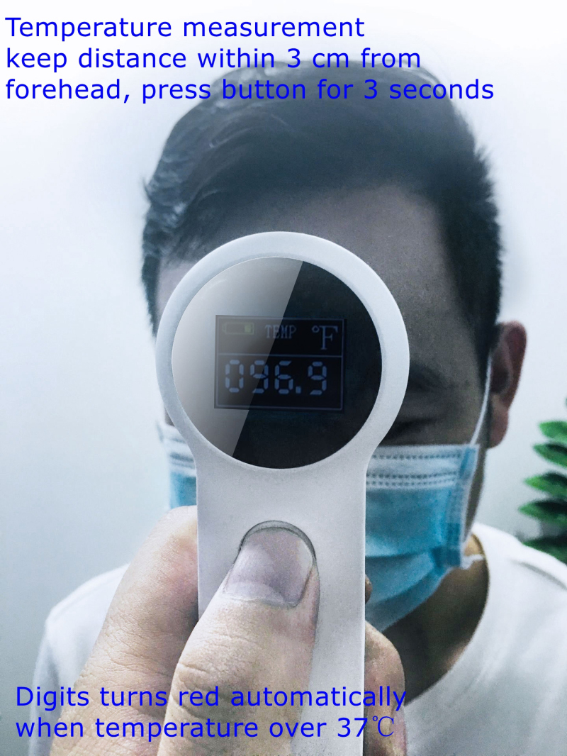 Household Portable IR Infrared Digital Non-Contact Forehead Ear Baby Adult Forehead Thermometer
