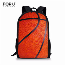 FORUDESIGNS School Bags Basketball Football Children Book Bags for Girls Boys Orthopedic Schoolbag Primary Backpacks Mochila