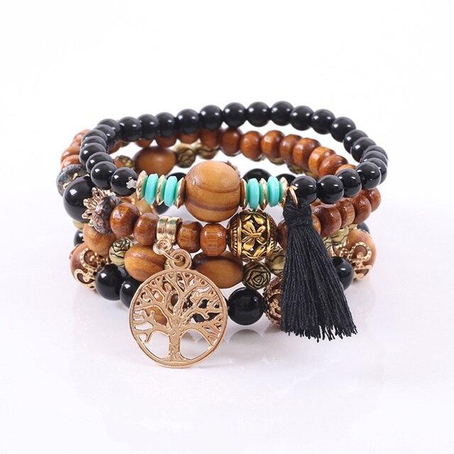 Rose sisi jewelry friends bohemian bracelets for women bracelet natural stone bracelet Fashion ladies clothing accessories 4