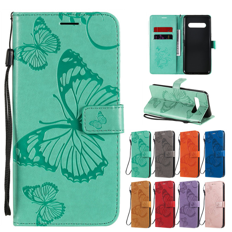 Fashion Cartoon Butterfly Leather Funda Case For LG V60 K40S Shell Covers Cases For LG V60 Phone Case Coque Capa For LG K30 2019
