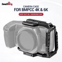 SmallRig BMPCC 4 K/BMPCC 6K Camera Gabbia Mezza Gabbia per Blackmagic Design Pocket Cinema Camera 4K /6 K Caratteristica w/Nato rail 2254-in Gabbia fotocamera da Elettronica di consumo su