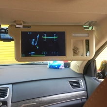 7 дюймов Солнцезащитный козырек Дисплей солнцезащитный Дисплей автомобиля Дисплей 2 канала видео Дисплей автомобиля заднего хода для сотрудников первого класса