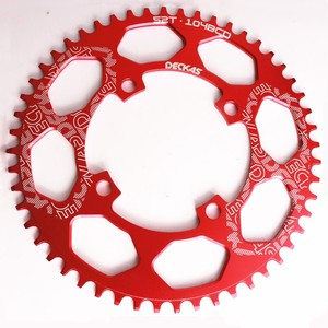 Image 5 - Deckas 104BCD 40/42/44/46/48/50/52T Mountain Fiets Kettingwiel Mtb fiets Crankstel Aluminium Smalle Brede Kettingblad Bcd 104