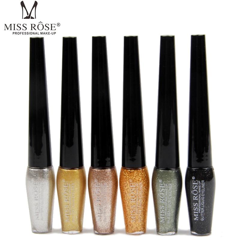 6 Colors Sparkle Diamond Highlight Eyeliner Lasting Metal Shimmer Liquid Eyeliner Festival Party Smooth Satin Eyeliner Pen TSLM2
